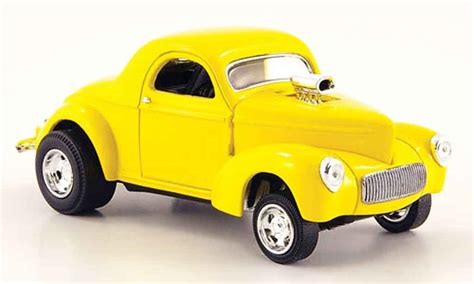 Willys Coupe 1941 Diecast willys coupe 1941 rod yellow eagle diecast model car 1