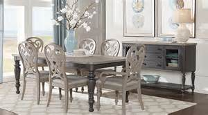 Dining Room Chairs Upholstered Cindy Crawford Home Coastal Breeze Charcoal 5 Pc Rectangle