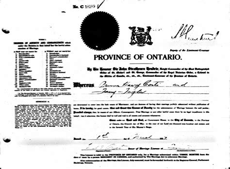 Marriage Records Toronto Elizabeth Barbara Wansor