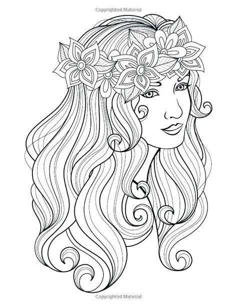 Hair Coloring Pages