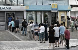 banks in greece bailout terms vote pushes banks to the brink of