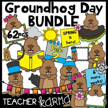 groundhog day karma groundhog day clipart bundle seller s kit by