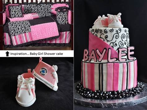 Black And Pink Baby Shower Cakes by Black Pink Themed Baby Shower Cake Cakecentral