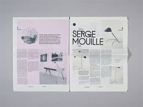 graphic design newspaper layout kissthedesign 224 lausanne spanky few culture innovation