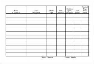 employee sign in sign out sheet template sle equipment sign out sheet 10 documents in pdf