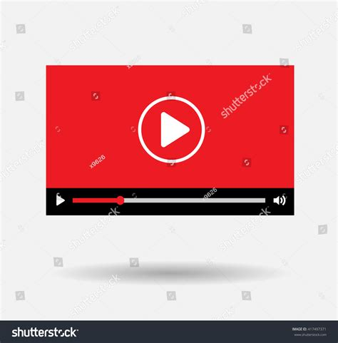 youtube layout vector player background red play vector logo stock vector