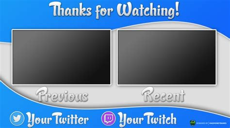 Outro Card Template by Madmoneybanks Sellfy