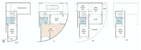 tadao ando floor plans tadao ando aobadai house floorplan japan property central
