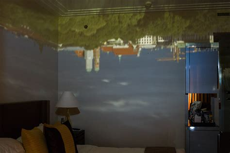 obscura room the view from my hotel room created as a obscura on the room walls germany and