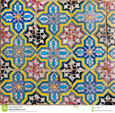 eastern pattern tiles tiles with geometry of colorful patterns stock photo