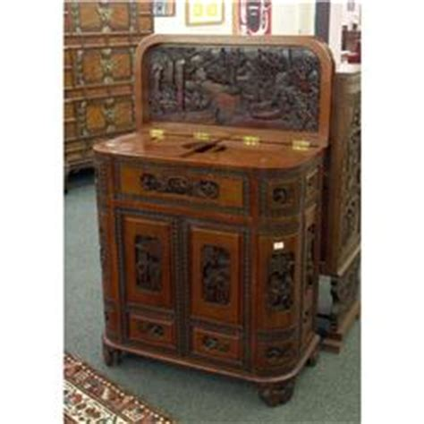 Asian Bar Cabinet Asian Carved Bar Cabinet