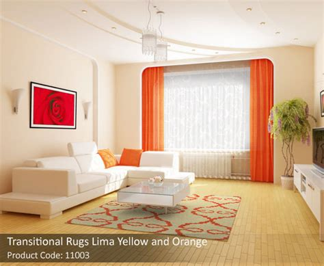 Orange Rug Living Room by Orange Rug Living Room Dez Home