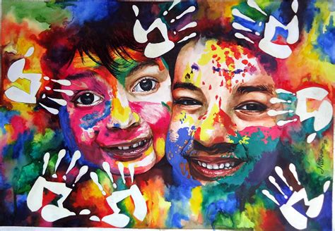 colour full dp paintings by mithran