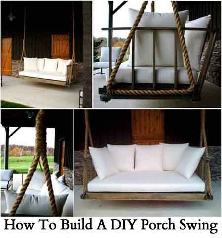 how to make a porch swing how to build a diy porch swing the home pinterest