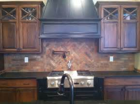 brick backsplash traditional kitchen louisville by