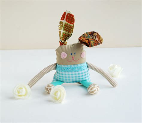 Baby Toys Handmade - bunny rabbit gift for baby handmade stuffed doll soft