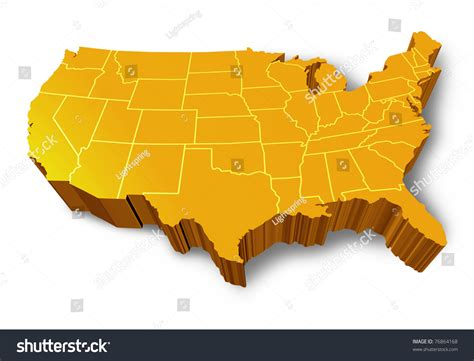 free stock images us map usa 3d map symbol represented by stock illustration