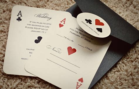 Vegas Themed Wedding Invitations by Set Of Classic Vegas Or Themed Wedding Invitations