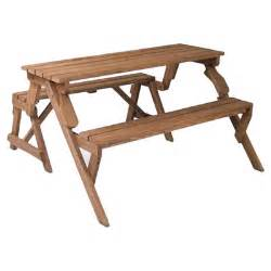 How To Make A Folding Picnic Table Bench by Leisure Season Folding Picnic Table And Bench Amp Reviews Wayfair