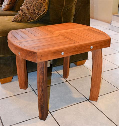 natural wood side table custom wood side table natural redwood side tables