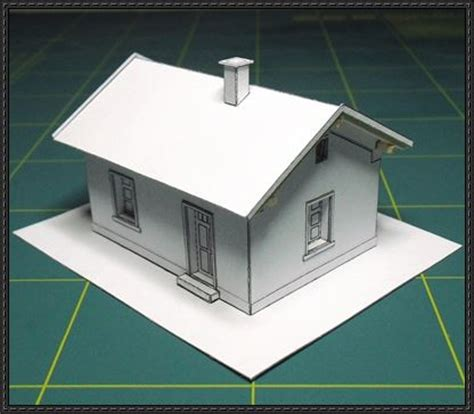 simple house free building paper model