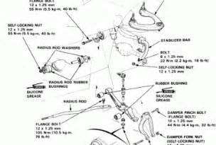 Honda Accord Suspension 1999 Honda Front Suspension Diagram Wedocable