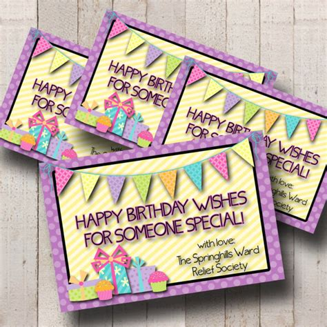 The Card Society by Items Similar To New Relief Society Customized Birthday