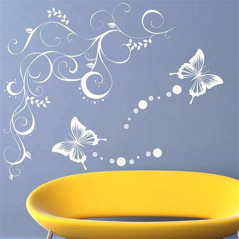 vine wall stickers butterfly vine wall stickers by parkins interiors