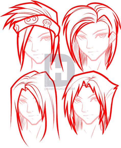 step by step instructions teen boys hair how to draw hair for boys step by step drawing guide by