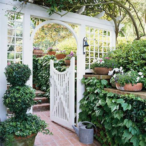 backyard gate arbors garden gates and short sections of decorative fence panels will enhance your garden and