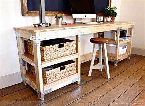 diy wood desk knockoffdecorcom