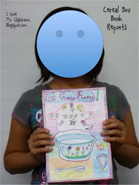 cereal box book reports fourth grade i my classroom cereal box book report