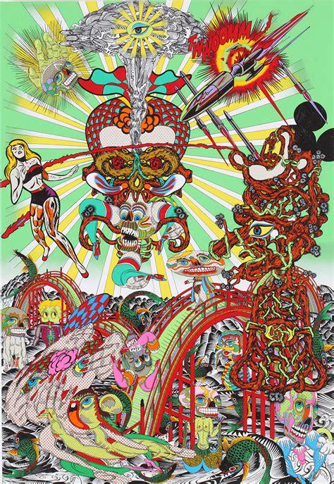 design art festival tokyo psychedelic paintings by japanese artist keiichi tanaami