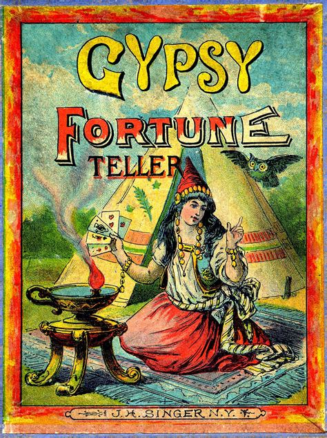 Fortune Tellers Deck Of Cards by Antique Graphic Gypsy Fortune Teller The Graphics Fairy