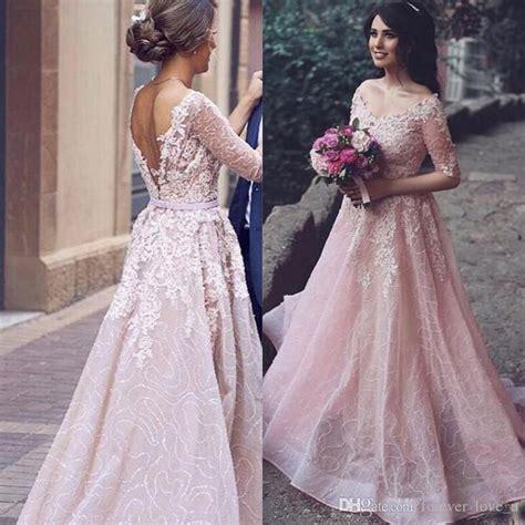 hochzeitskleid blush discount arabic 2017 blush pink colored wedding dress a