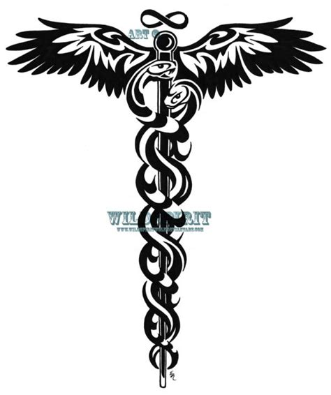 medical symbol tattoo designs best 25 caduceus ideas on