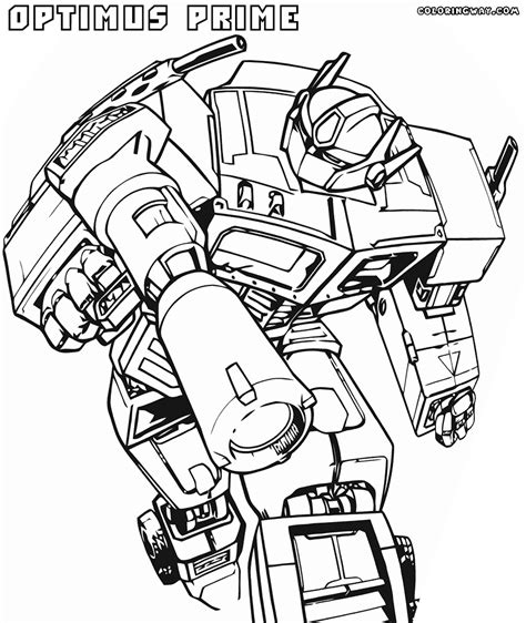 Optimus Prime Coloring Page by G1 Optimus Prime Coloring Pages Coloring Pages
