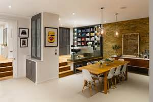 Split level entry decorating ideas dining room contemporary with open