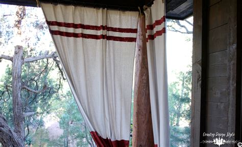no sew outdoor curtains no sew drop cloth projects country design style