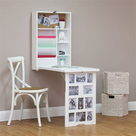 fold down desk photo frame fold down multi storage desk white buy