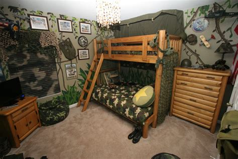 Camo Bedroom Decorations Camouflage Boys Room With Bunk Beds Interior Design Ideas