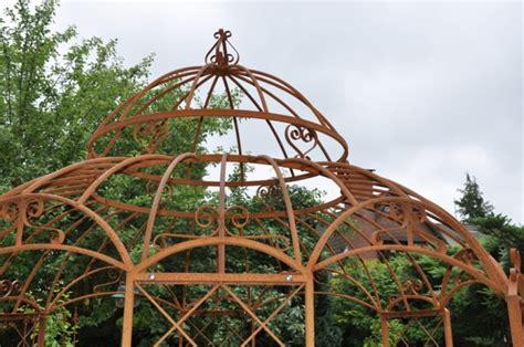 stabiler gartenpavillon stabiler pavillon 216 400cm rosenspalier pergola rost