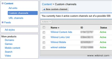 adsense custom and url channels can double your income google increases number of adsense channels to 500