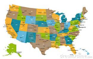 United states map with all states and cities findmemes com