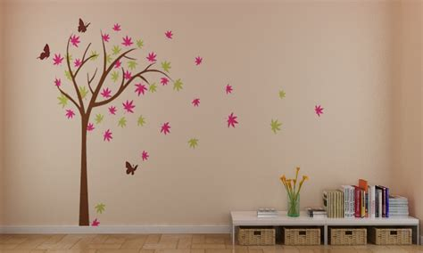 wall sticker butterfly colorful cherry blossom tree with butterfly wall stickers