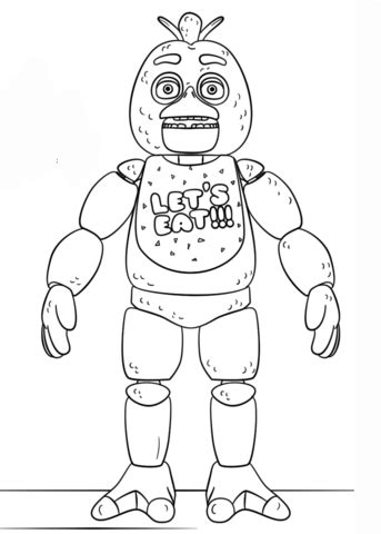 fnaf coloring pages foxy fnaf toy chica coloring page free printable coloring pages