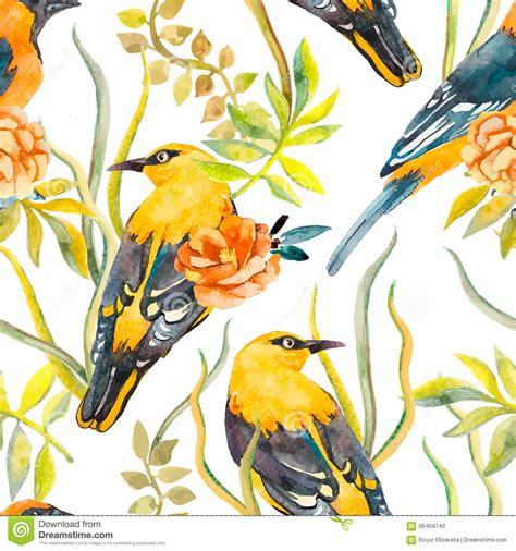 pattern bird art seamless pattern of birds and plants bird pattern and