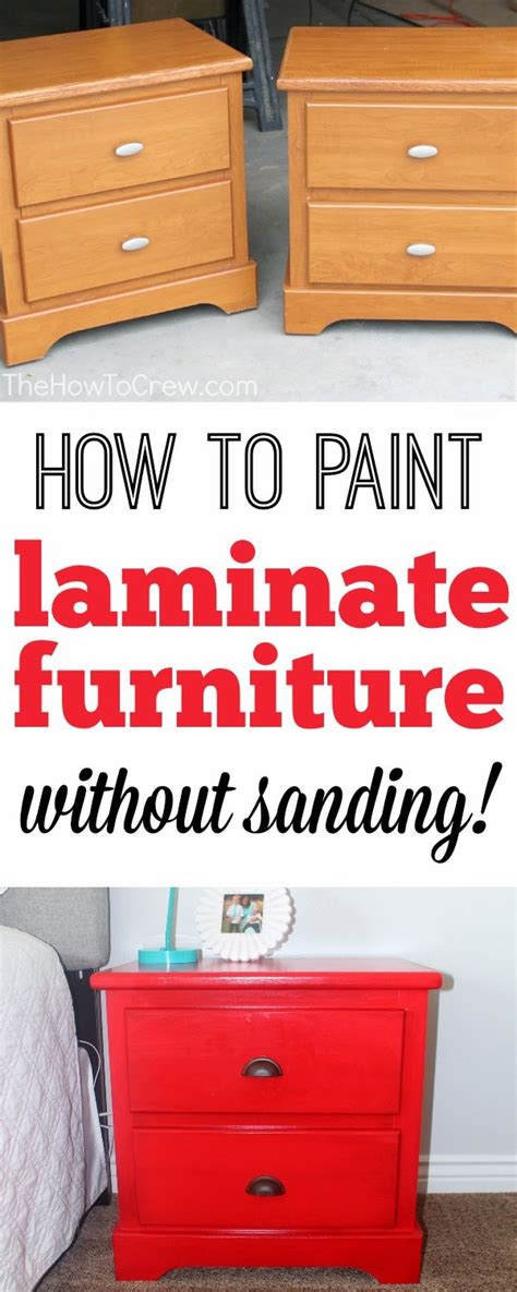 the how to crew how to paint laminate furniture without
