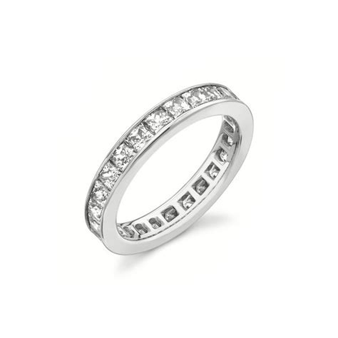 2 Carat Eternity Princess cut Diamond Wedding Band