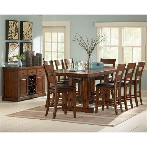9 piece counter height dining room sets steve silver zappa 9 piece counter height dining table set